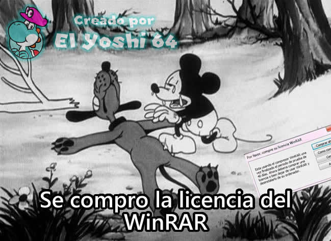 Cuando te compras la licencia del WinRAR pero no querias comprarla: - meme