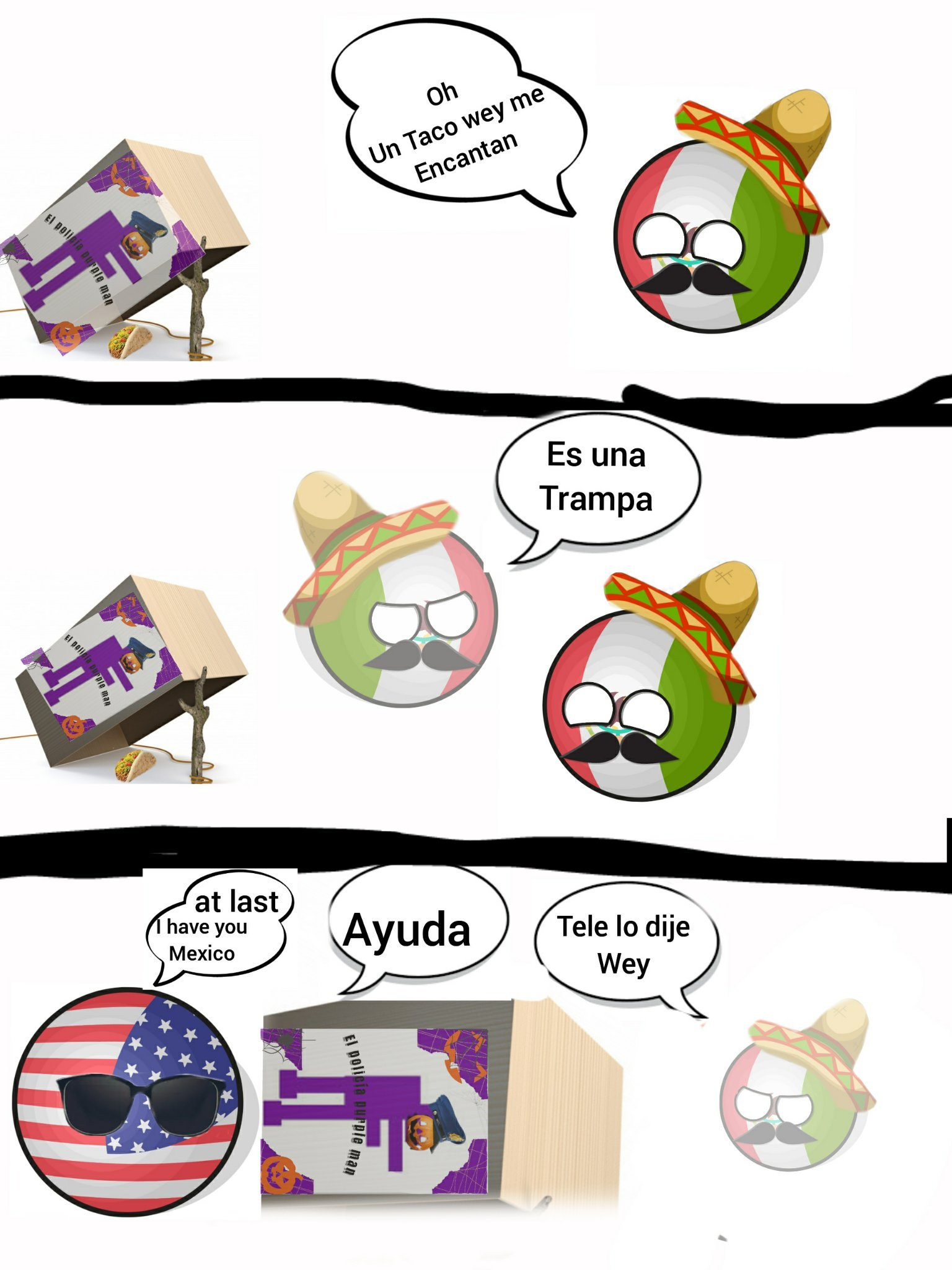 Capítulo uno: atrapé de México - meme