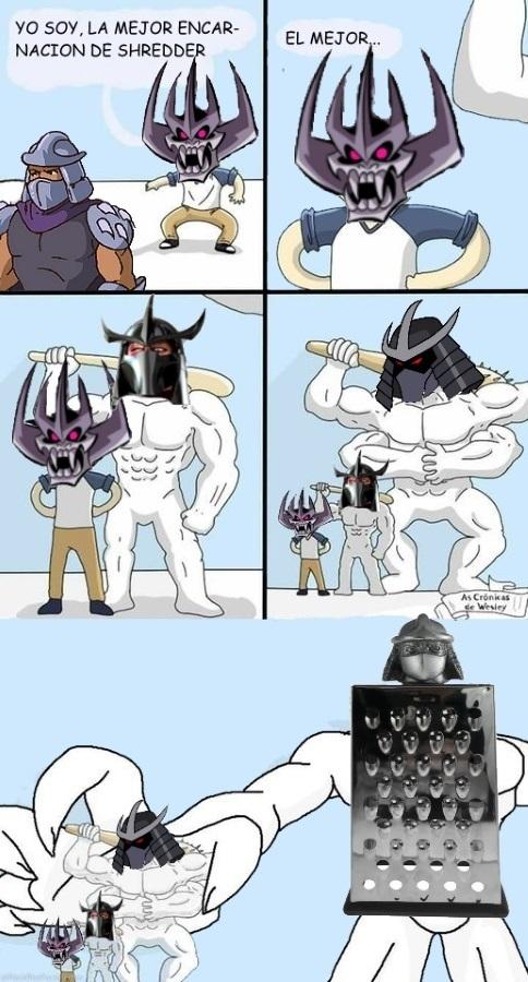 Shredder el destructor - meme