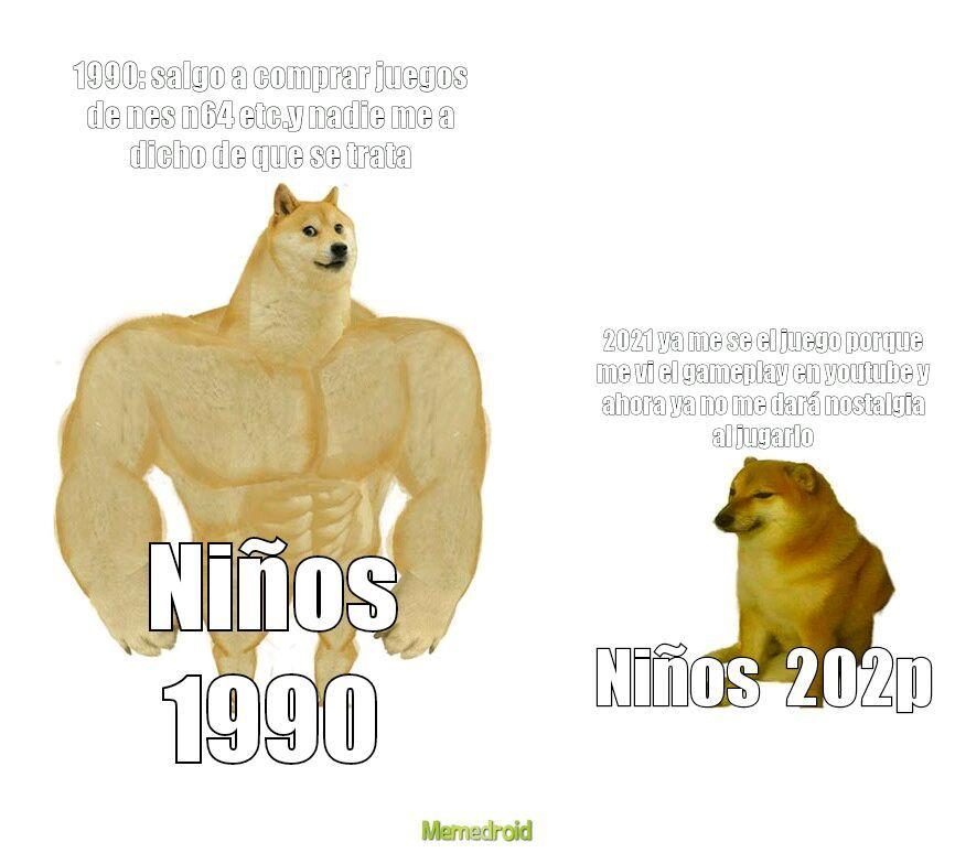 Como pasan los años - meme