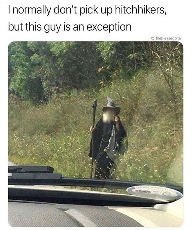 Hitchhiker - meme