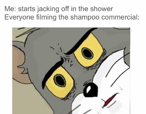 Shampoo commercial - meme