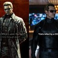 Difference between game and movie Wesker