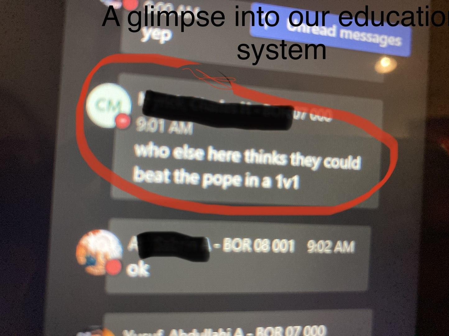 School chat - meme