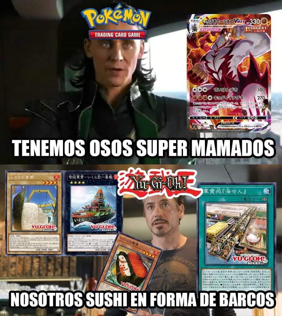 Yugioh VS Pokémon TCG - meme