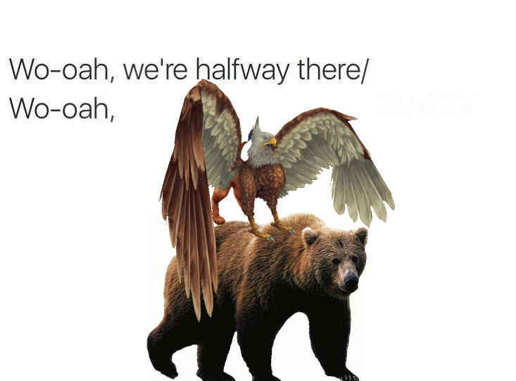 Griffin on a Bear - meme