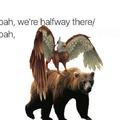 Griffin on a Bear