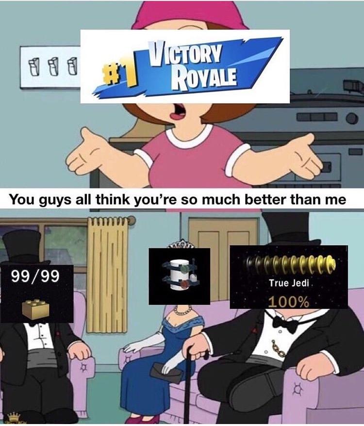 I always got true jedi - meme