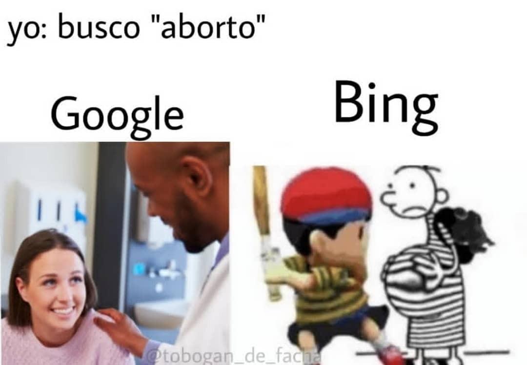 La concha de tu madre Bing - meme