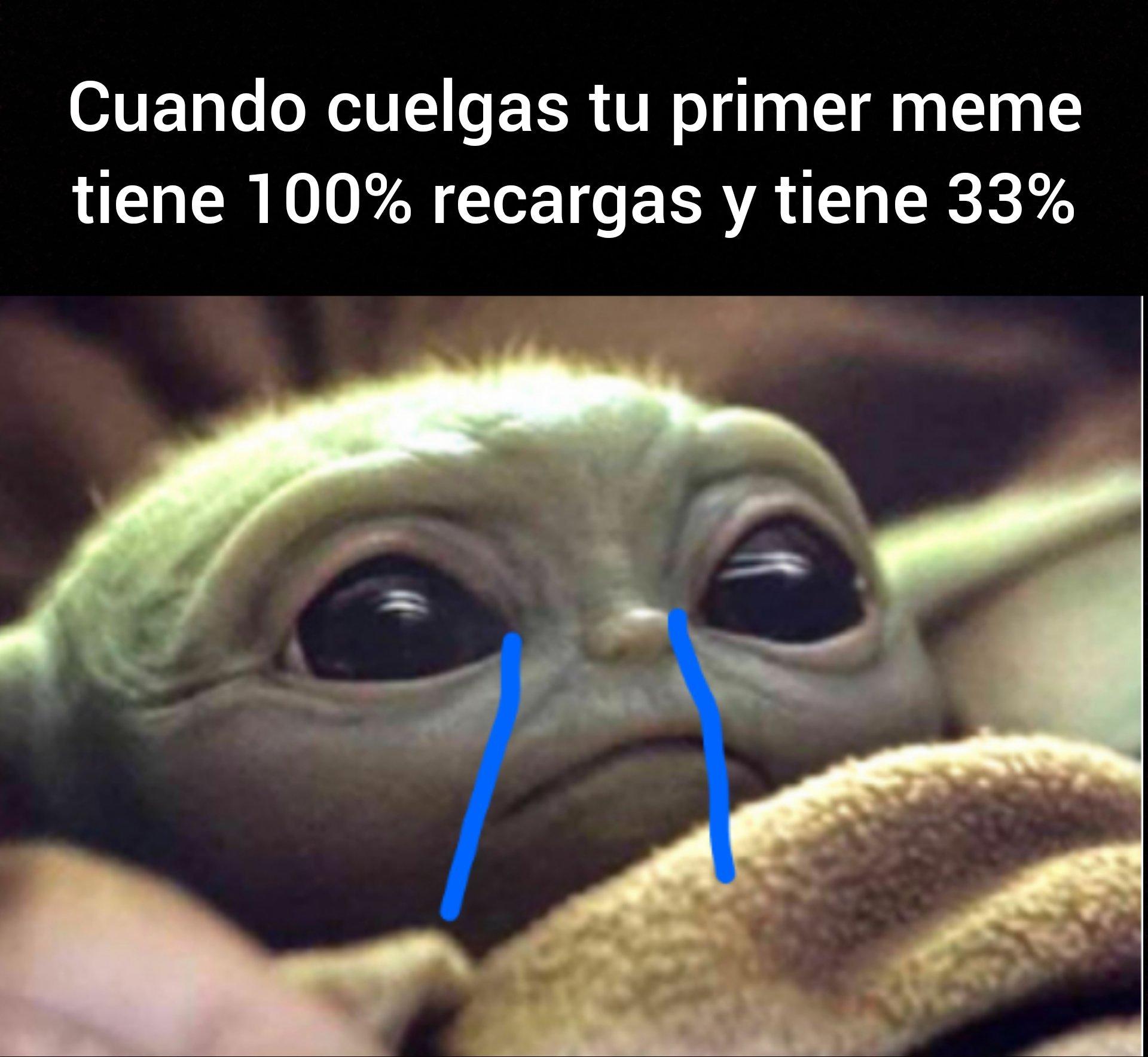 Yoda llodando - meme