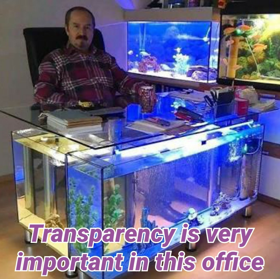 Office transparency - meme