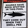 don't pee in this pool! lol