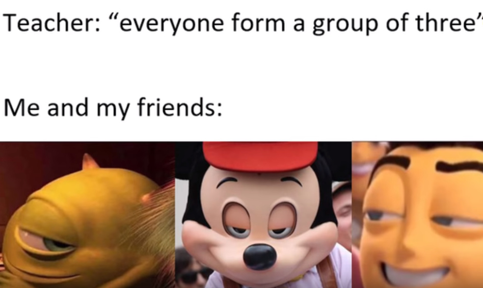 the trio - meme