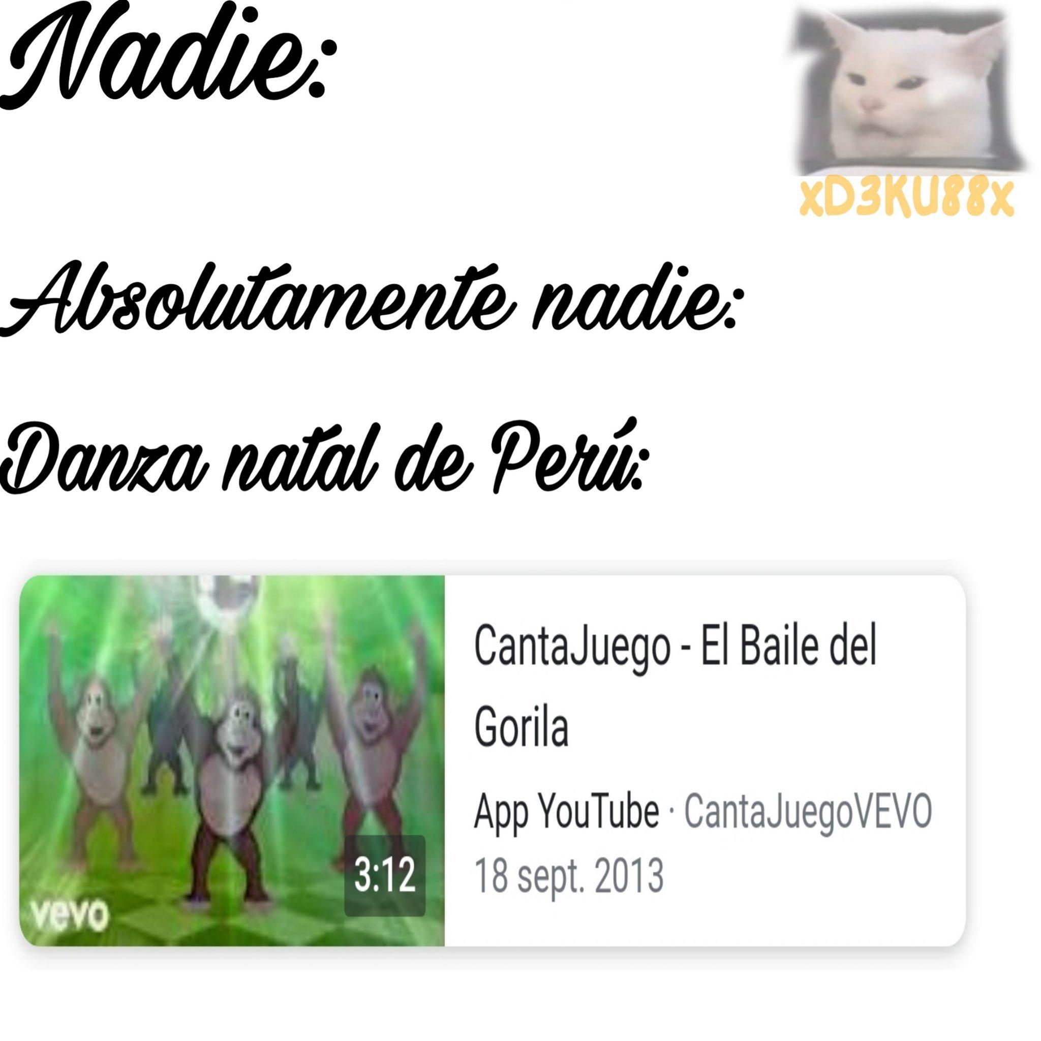 Baile natal de Perú - meme