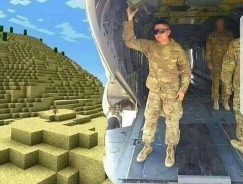 Salto para uma missão no Iran - meme