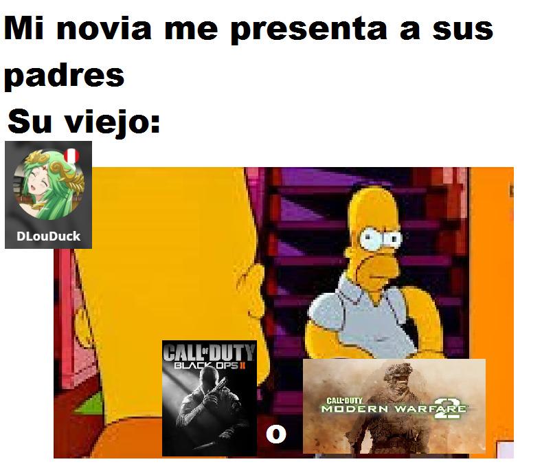 Solo jugué Black Ops 1, Modern Warfare 1 y 3 :okay: - meme