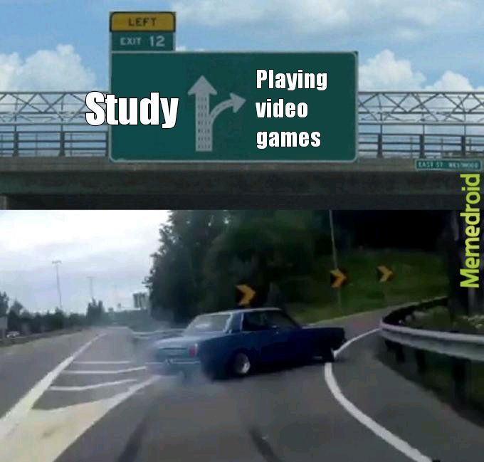 After finishing homework - meme