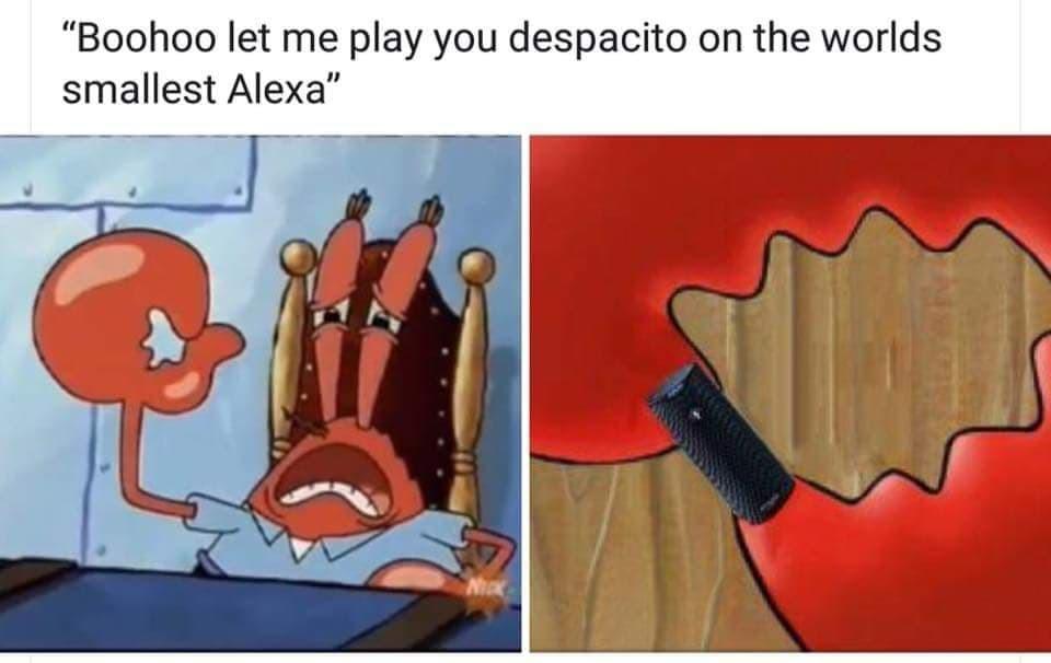 this is so sad, alexa play moonman - meme