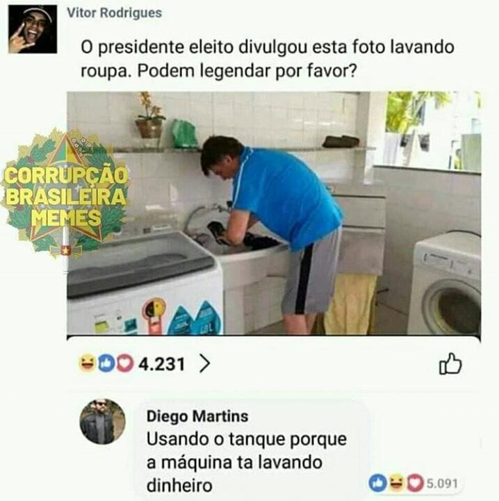 Lavar dinheiro - meme