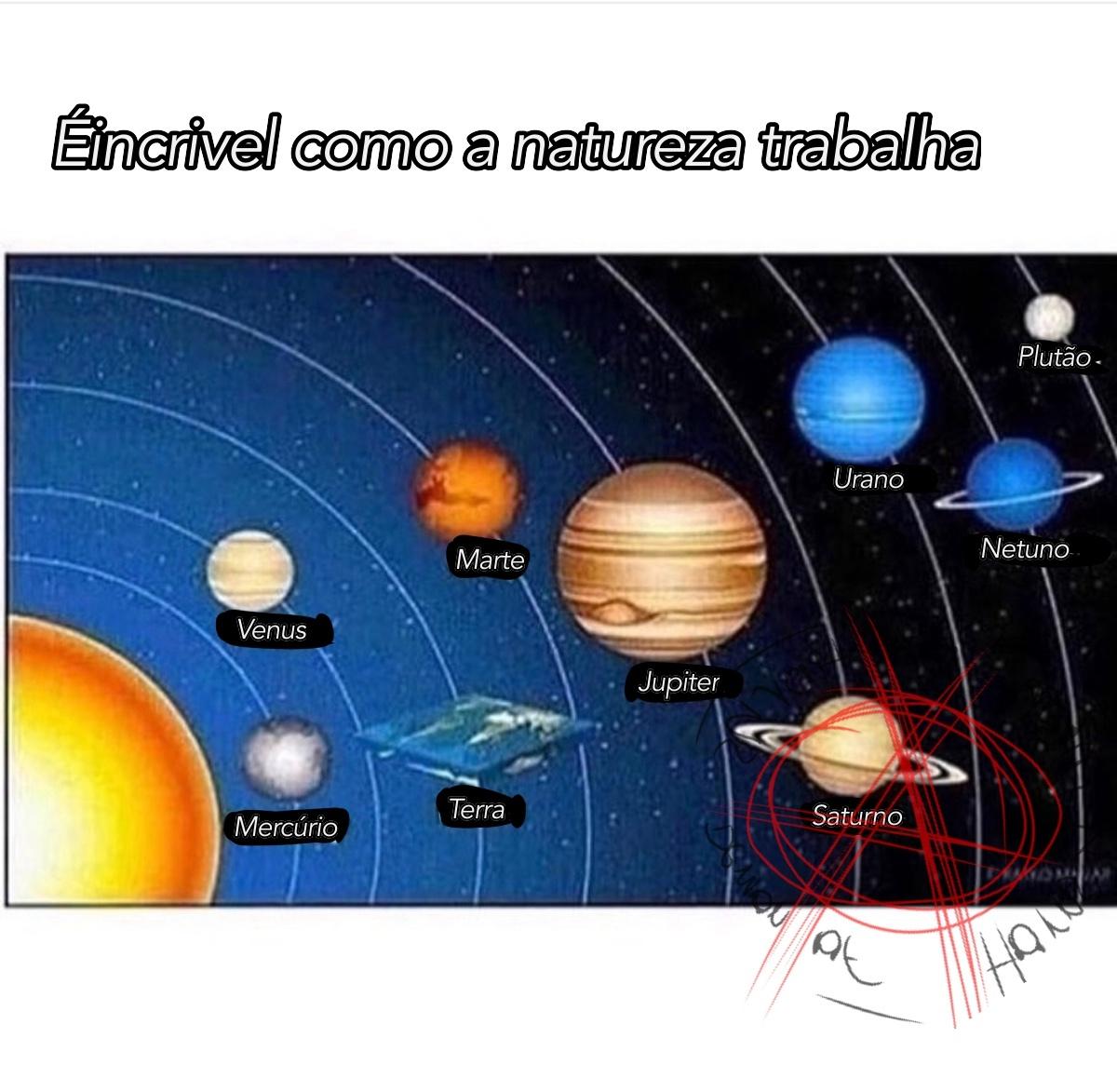 é planeta não redondeta - meme