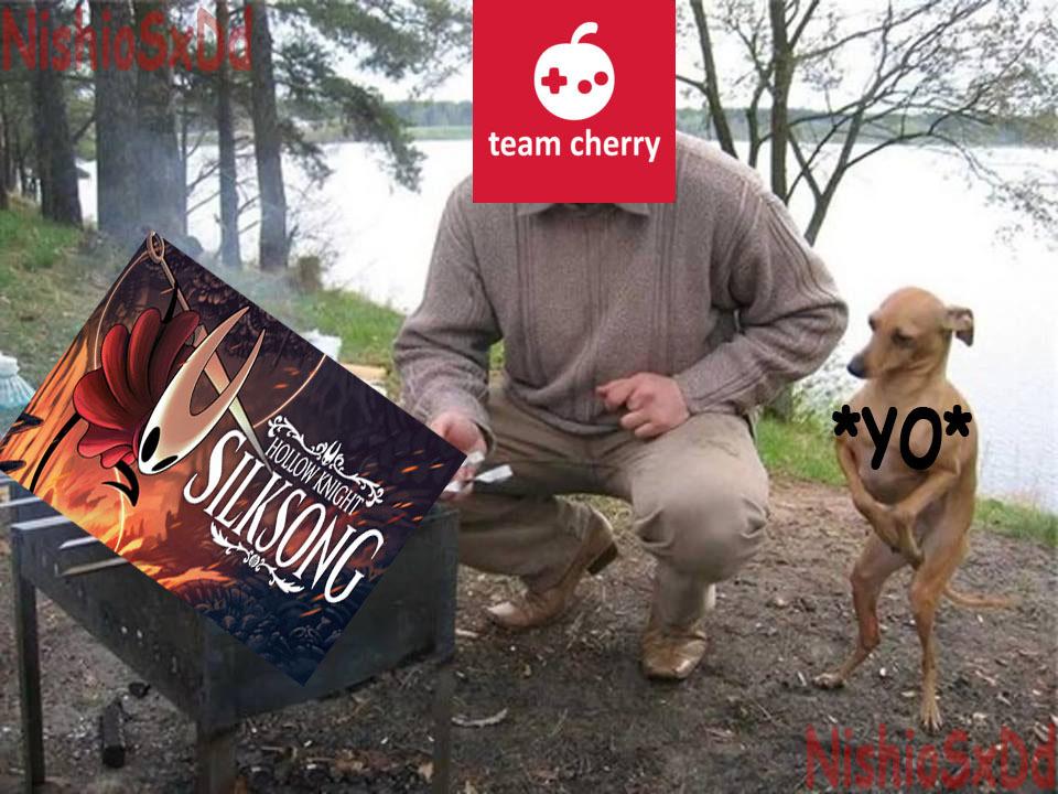 Malditos los de Team Cherry - meme