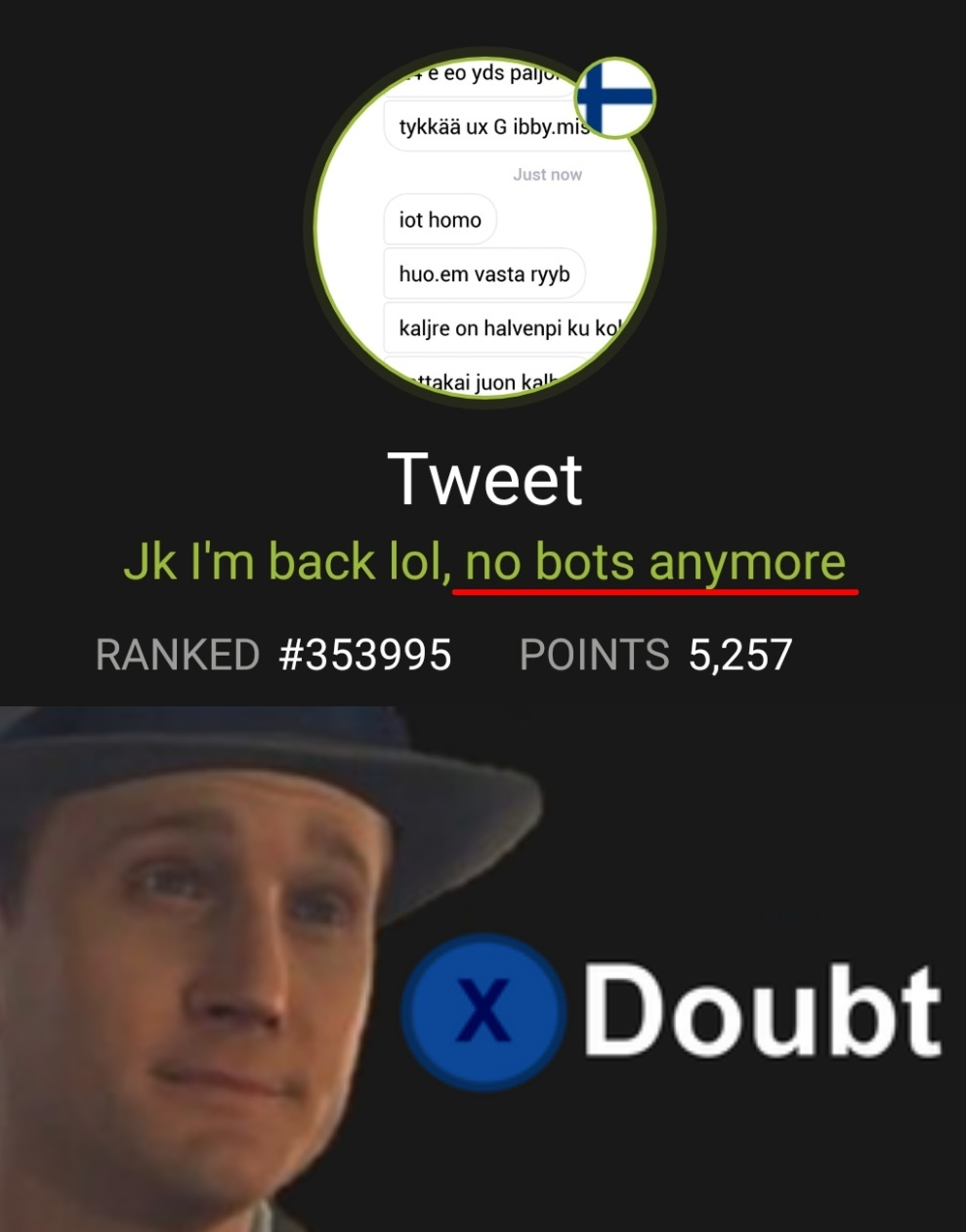 592085a02023c could tweet actually stop using bots meme by awesomecow12