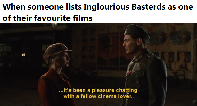 IB >  Pulp Fiction > Django Unchained > Reservoir Dogs - meme