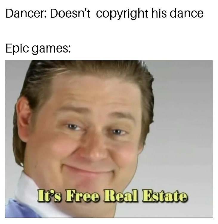 Fortnite steals dances - meme