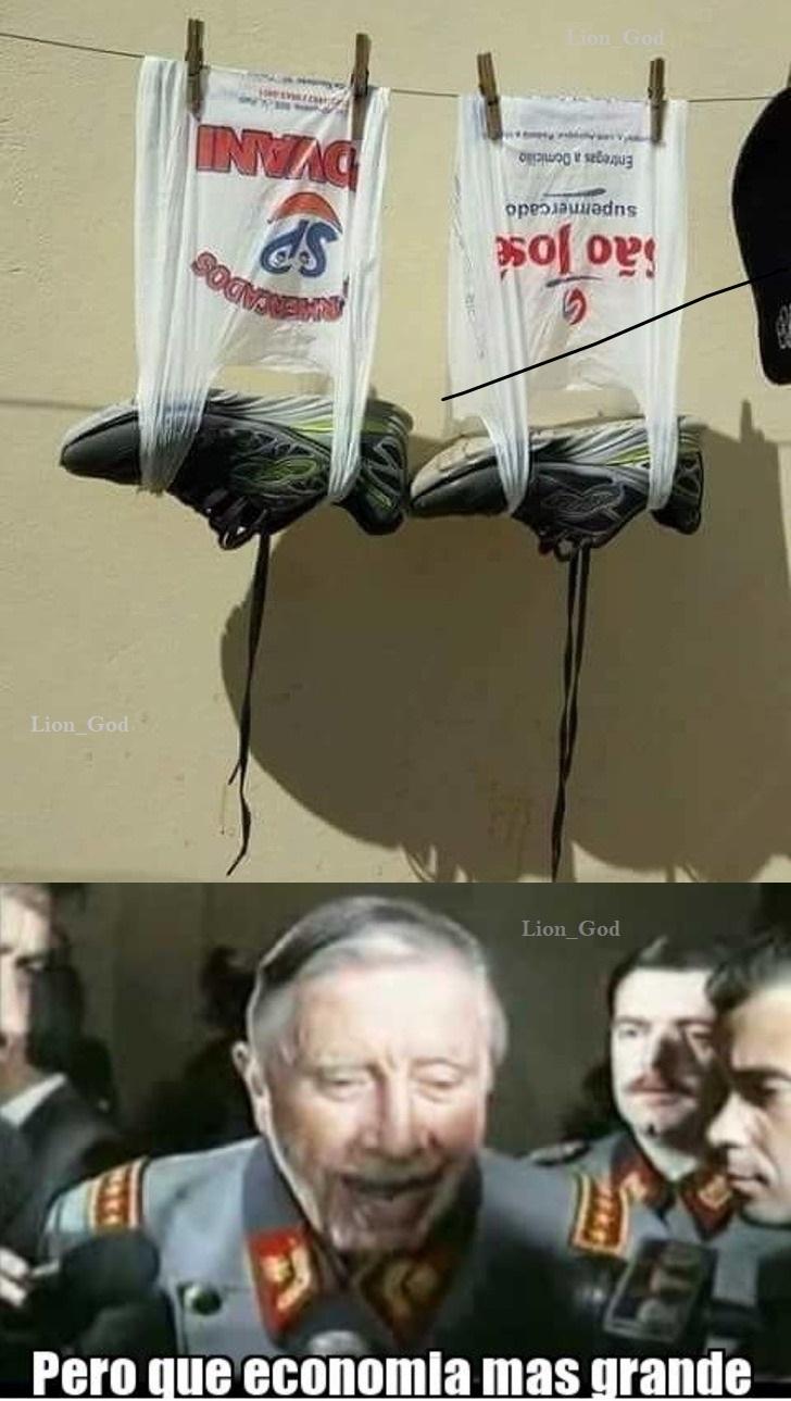 Nueva forma de secar zapatillas - meme