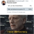 eu amo a democracia