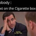 cigarette box warning