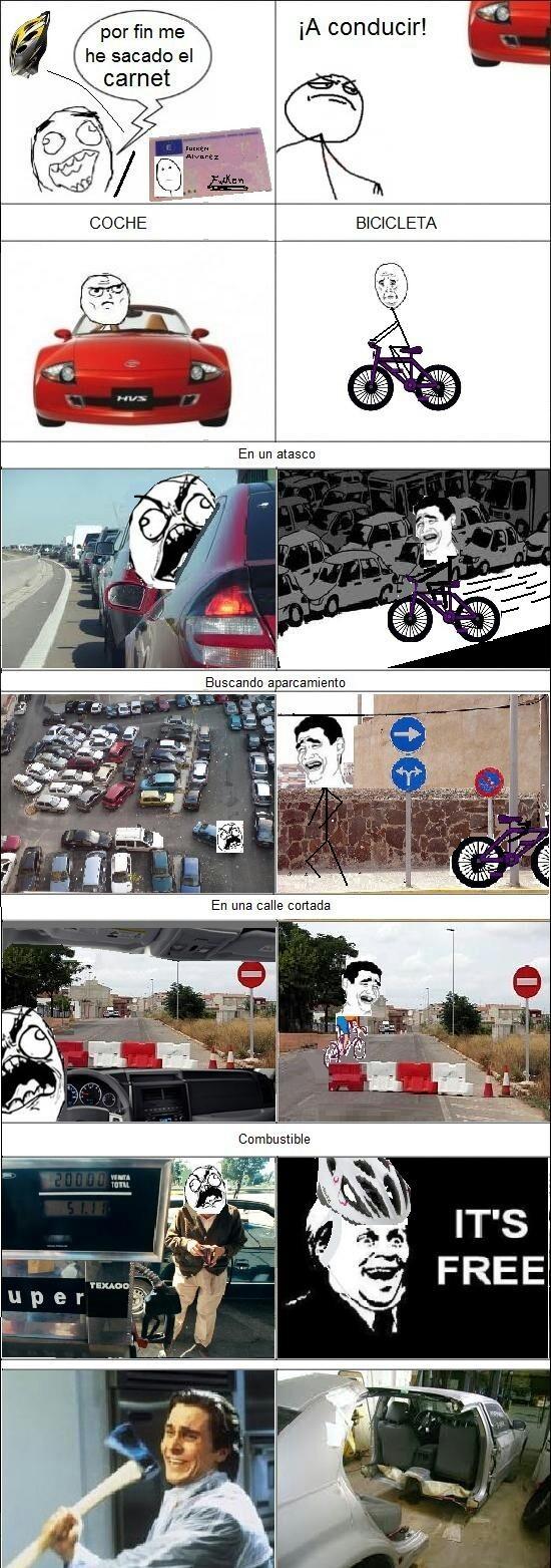La bici es mejor...... - meme
