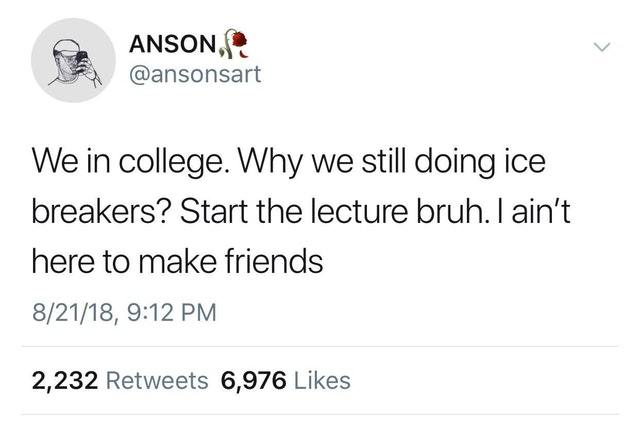 Start the lecture - meme