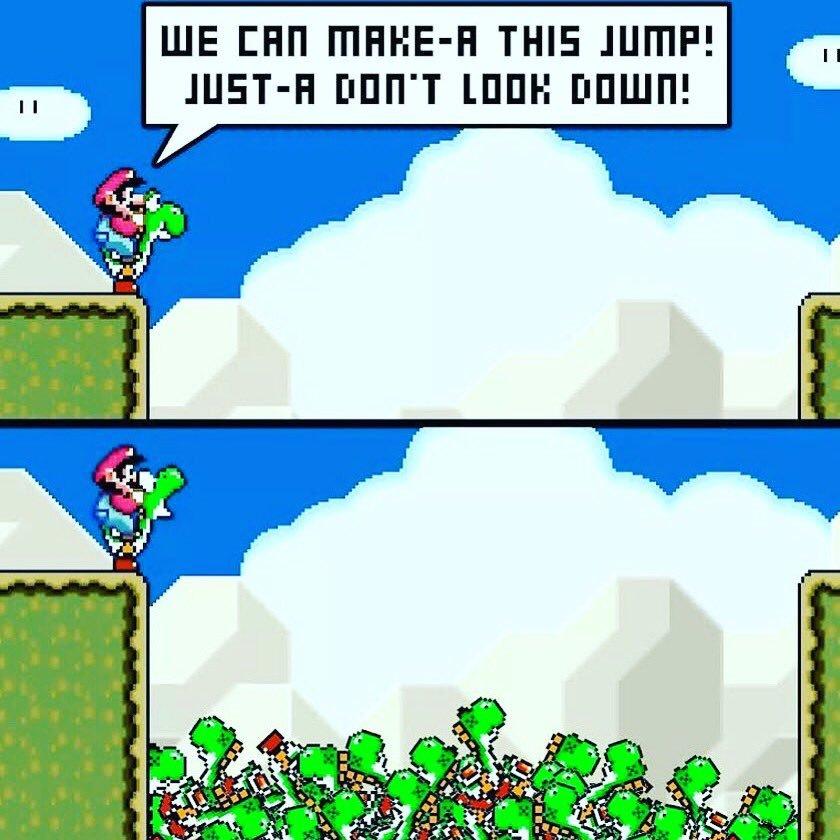 Yoshi & Super Mario - meme