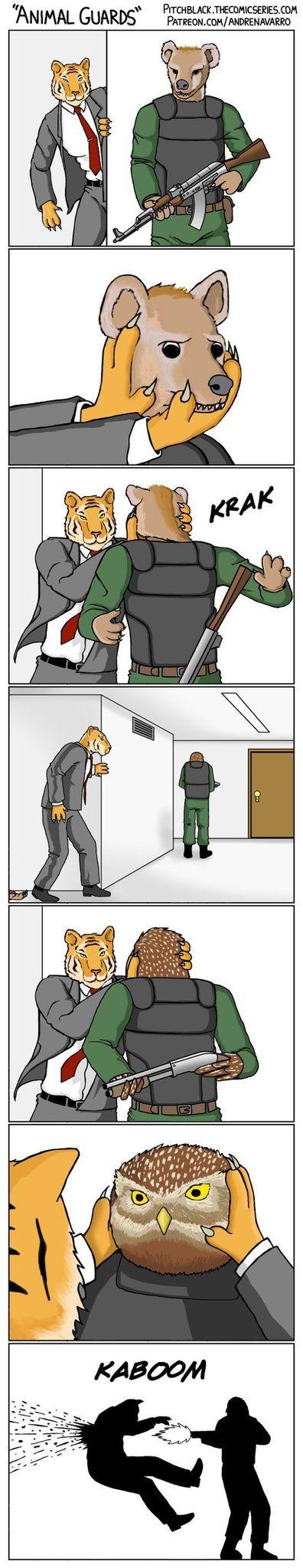 animal guards - meme