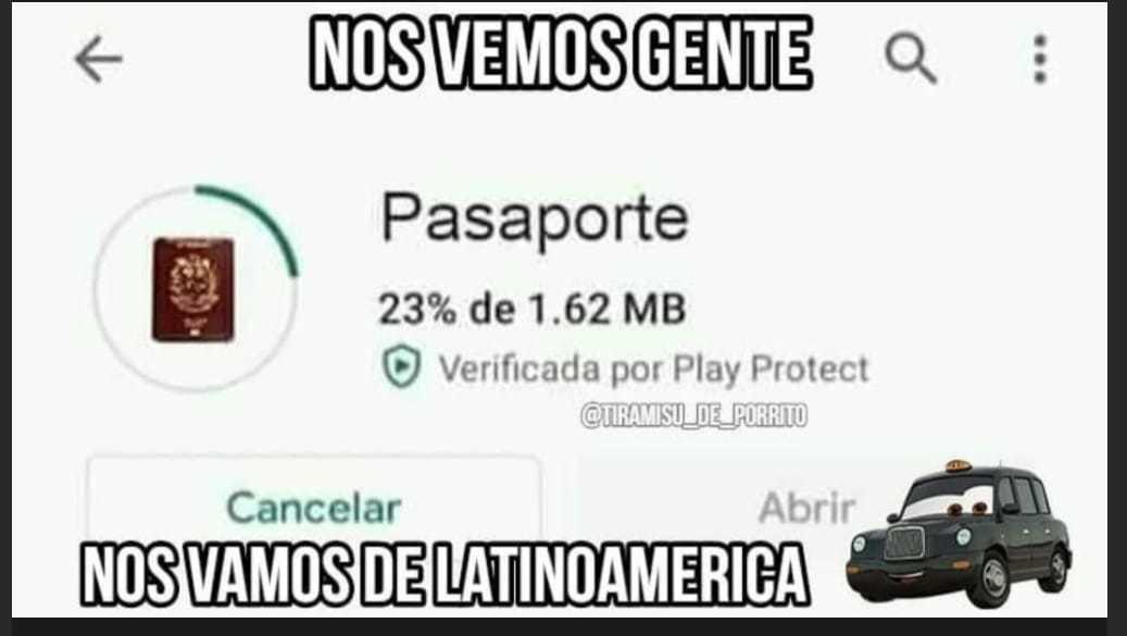 Pasaporte jajaj - meme