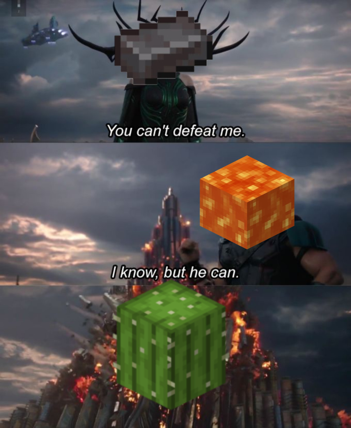 AND HIS NAME IS cactus - meme