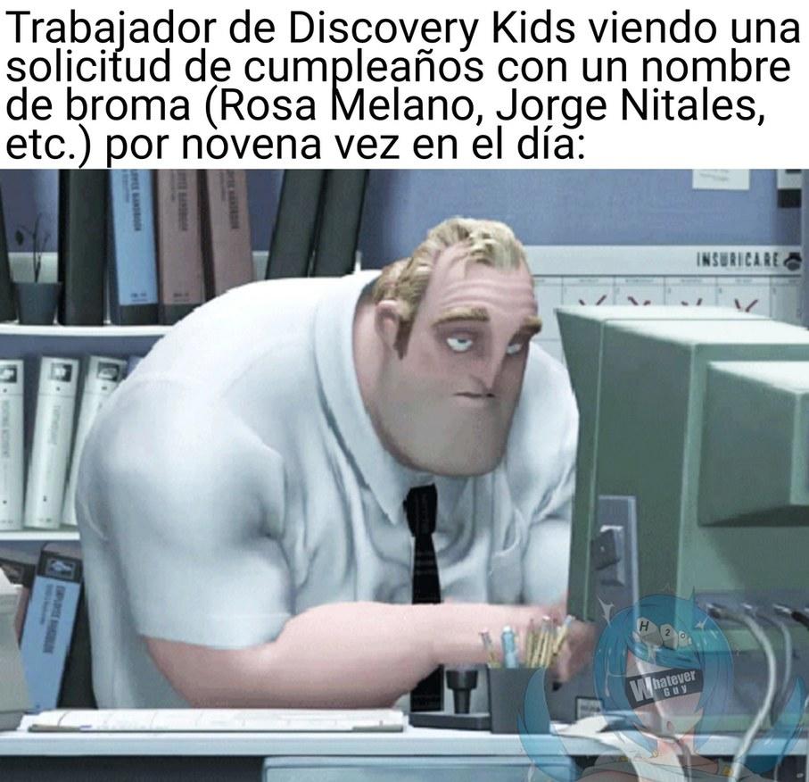 Quemaron los nombres de broma en Discovery Kids rápido - meme