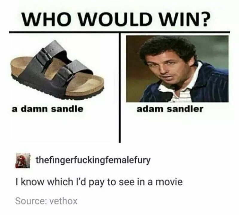 a damn sandle - meme