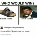 a damn sandle