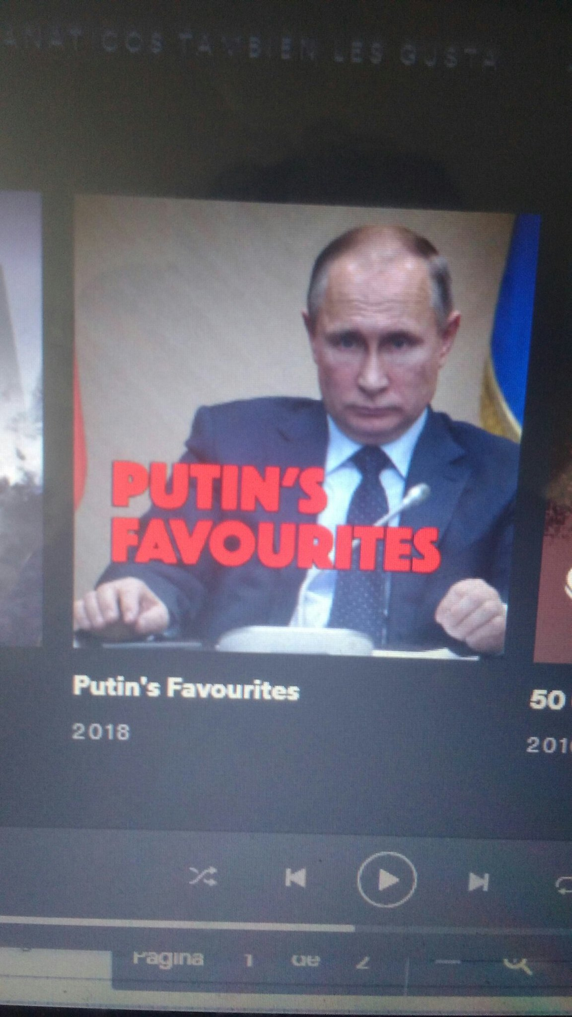 Me lo encontré buscando álbumes de punk en Spotify - meme