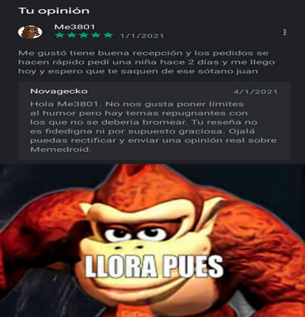 Llora - meme