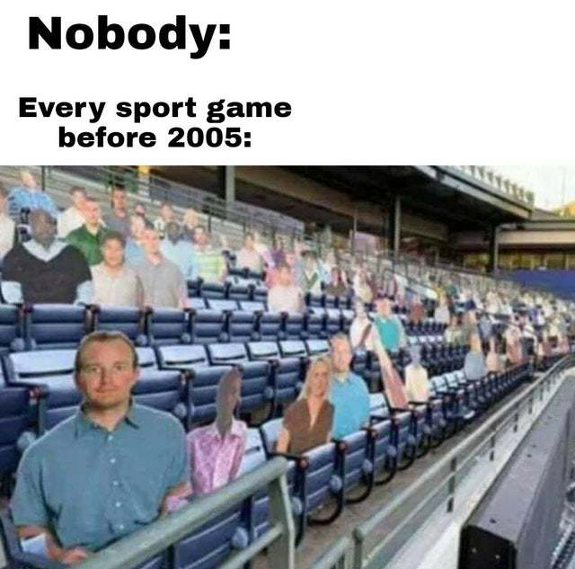 Every sport game before 2005 - meme
