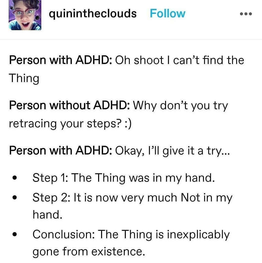 Here is another ADHD meme
