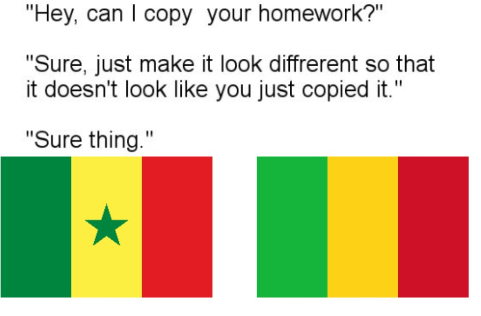 right is Senegal and left is Mali - meme