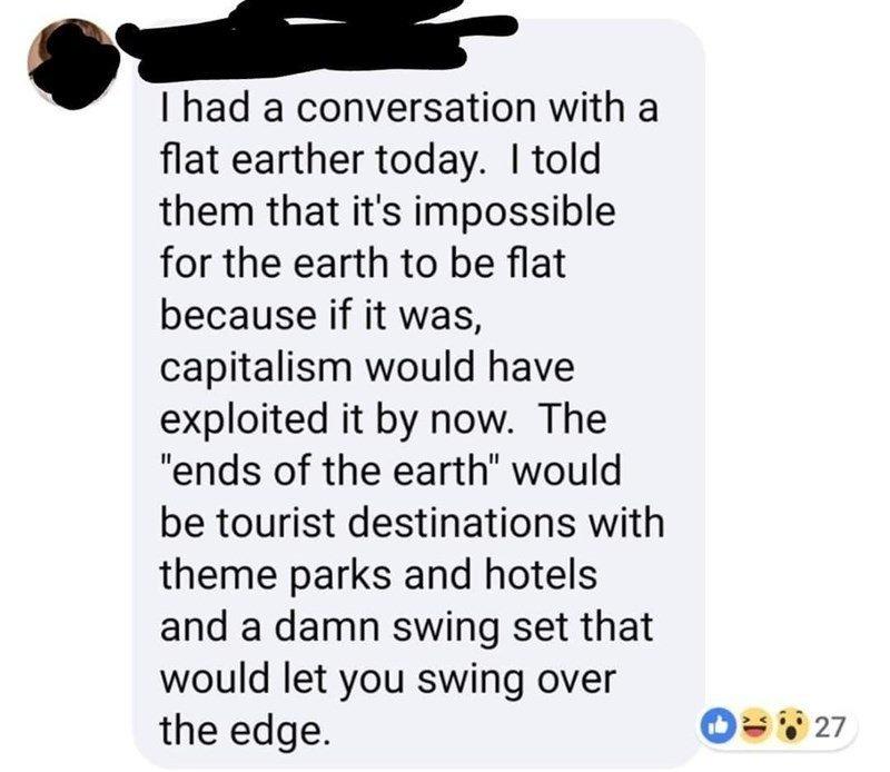 flat earth - meme