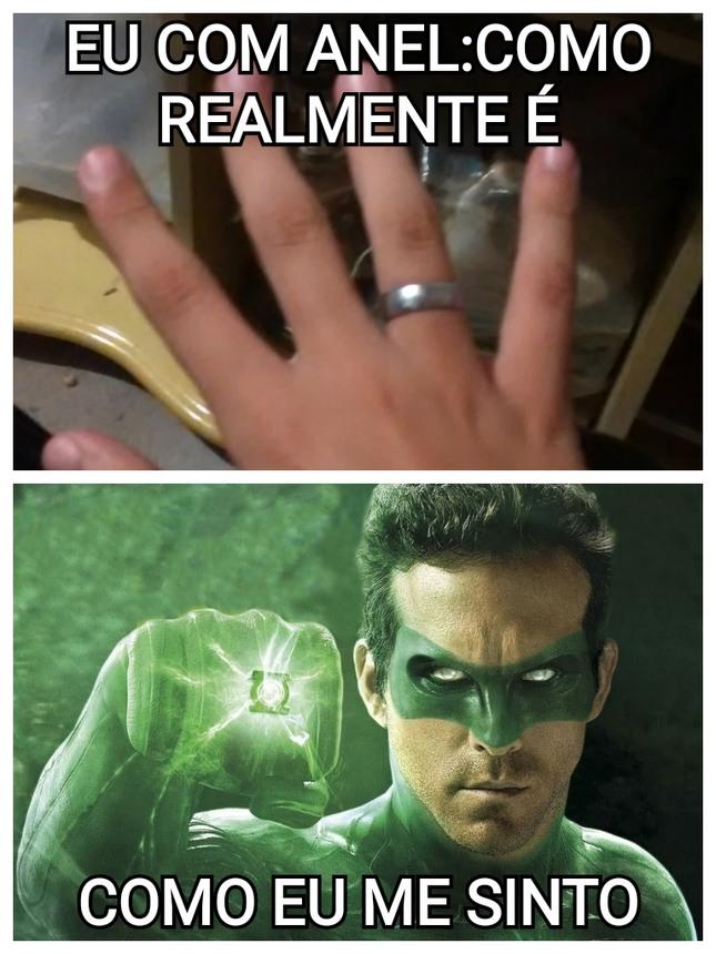 sou o lanterna verde - meme