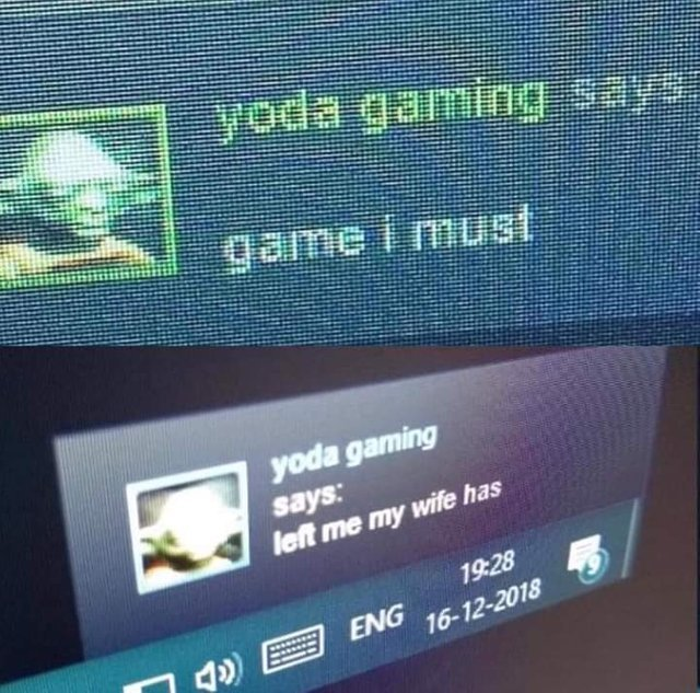 Yoda gaming says - meme