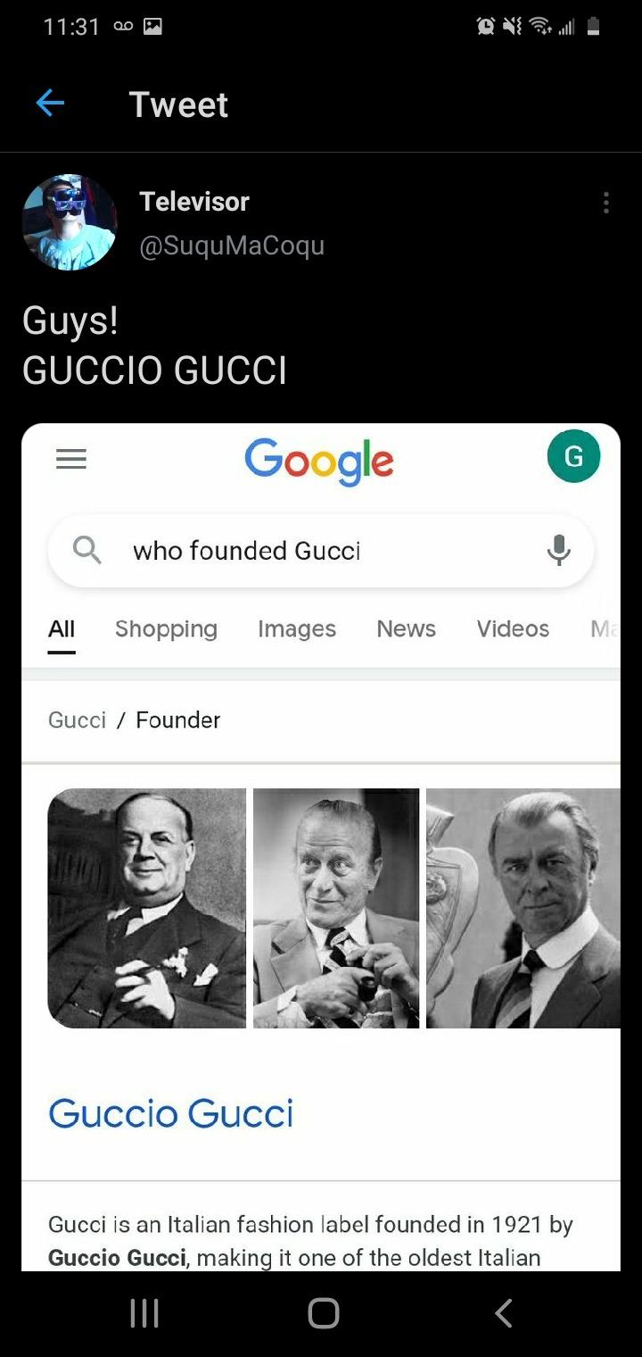 GUCCIO GUCCI - meme
