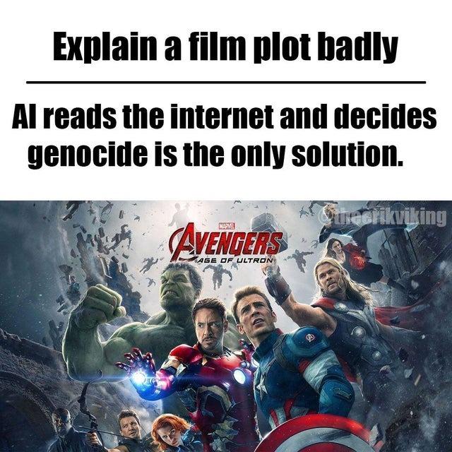 Avengers' plot badly explained - meme